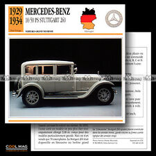 #042.18 MERCEDES-BENZ 10/50 PS STUTTGART 260 (1929-1934) - Fiche Auto Car card