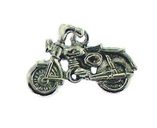 Motor Cycle  Charm/ Pendant in Sterling    Vintage Charm 3/D
