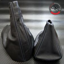 BMW E46 1998-2005 3 SERIES BLUE STITCH LEATHER GEAR STICK GAITER HANDBRAKE SET