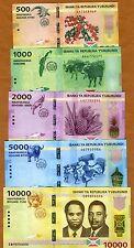 SET Burundi, 500;1000;2000;5000;10000 Francs, 2015, P-New, UNC   Redesigned