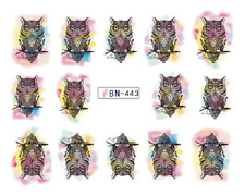 Nail Art Decals Transfers Stickers Sinister Owls (DB443)