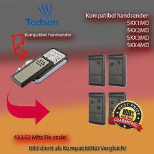 Handsender für TEDSEN Garagentorantriebe 433,92 MHz SKX2MD,SKX4MD Funksender