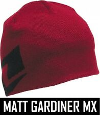ONE INDUSTRIES ICON BEANIE HAT motocross mx CARDINAL RED one size  RRP £19.00