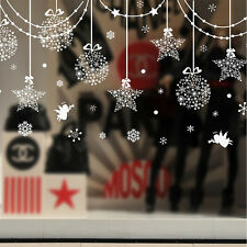 Merry Christmas Snowflakes Window Sticker Self Clings Adhesive Decorations
