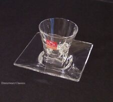 RCR Royal Crystal Rock Fusion Moka Cup & Saucers 2, Lead Crystal glass, new