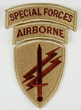 US ARMY SAND COLOUR SPECIAL FORCES AIRBORNE ARMBAND PATCH-32656