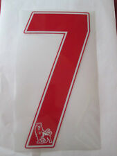no 7 Premier League EPL Football Shirt Name Set Rear Number Red Sporting ID