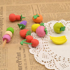 Funny Fruit Food Rubber Eraser Pencil Eraser Stationery Novelty Kawaii 1PC Gift