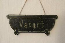Decorative Handcrafted Wooden Gold on Black ENGAGED / VACANT Sign