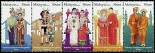 Traditional Wedding Costumes, Culture Malaysia 2009 (stamp in strip) MNH