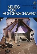 NEUES VON RHODE & SCHWARZ Nr. 96: VHF-UHF-Funkgeräte 400 in Flugsicherung etc.