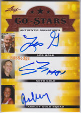 "2013 POP CENTURY AUTO: LES/SETH/ASHLEY GOLD - AUTOGRAPH CO-STARS ""HARDCORE PAWN"""