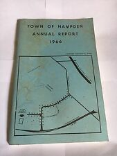 Vintage 1966 ANNUAL REPORT of the Town of Hampden, Maine. free shipping