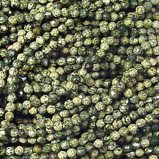 """4MM RUSSIAN JADE FACETED ROUND GEMSTONE BEADS  16"""""""