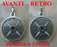 PENDENTE CIONDOLO PER COLLANA IDEA REGALO NATALE DISCO BILANCIERE CROSSFIT ITALY