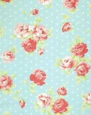 Tanya Whelan Cottage Shabby Chic Lulu Roses Lilly Cotton Fabric PWTW093-Sky BTY