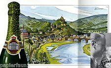 Wein Koblenz XL Reklame von 1939 VW Vereinigte Weingutsbesitzer Mosel Rhein ad