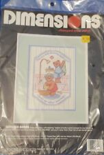 Dimensions Stamped Cross Stitch Bathtub Bears #3100