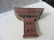 Vintage Wooden Sconce Shelf Display Rack Holder Shelve Candle Holder Old Inlay
