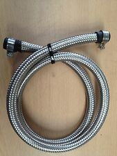 3/8 10MM Stainless Steel Braided Fuel Hose Pipe 1M+Ends