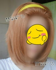 K-on!Ritsu Tainaka Golden Brown Cosplay Party Hair Wig + Free Wig Cap