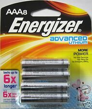 Energizer Advanced Lithium Batteries, AAA Size, 8 Pack