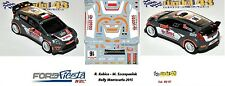 DECAL  1/43 -  FORD  FIESTA WRC  -  KUBICA - Rally Montecarlo    2015