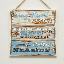 Wall hanging plaque/picture - Beach signs - Seaside cottage, Fish bar, Beach