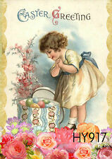 """12.5"""" x 18"""" Double-sided Spring Garden Flag Girl Easter Greeting Flowers HY917"""