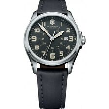 New Victorinox Swiss Army 241580 Infantry Vintage Black Dial Men's Watch