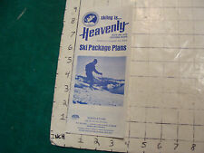 Vintage High Grade SKI Brochure: HEAVENLY ski package plans 1973-74 season