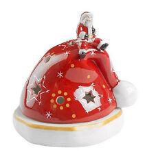 Villeroy & Boch Christmas Light Windlicht Mütze 5447 Weihnachtsmann sitzt auf