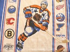 Vintage NHL HOCKEY Nordiques / Whalers / More TWIN SIZE FLAT SHEET 1980's
