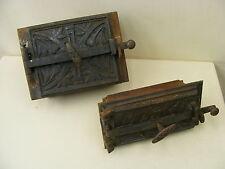 Alte Ofenklappe und Ascheklappe 2 teilig Ofentür,Ofen antik mit Rahmen