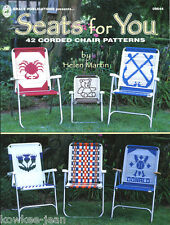 Macrame LAWN CHAIR PATTERNS: cat; puppy; wolf; rooster. Pics