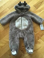 Carter's Baby Boy Bunting Reindeer Christmas One Piece NWT Size 6 Months