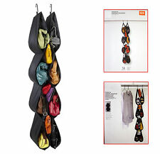 Pocketta Hanging Shoe/Handbag Black Organizer Polyester Fabric Flexible Design