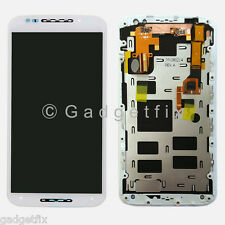 White Motorola Moto X+1 X 2nd Gen 2014 XT1096 LCD Touch Screen Digitizer + Frame