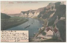 Kolo. Litho Ak Rathen Gasthaus Erbgericht u. Basteifelsen 1907 ! (A1728
