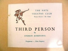 Arts Theatre Programme- THIRD PERSON by Andrew Rosenthal
