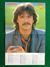 (M47) POSTER 37x24 cm ALAN SORRENTI Calendario/Febbraio 1980 da il Monello