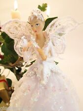 GISELA GRAHAM Christmas tree topper fairy angel traditional white