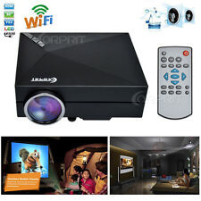 New Metal Wifi HD 1080P LED Home Theater Video Projector AV/VGA/HDMI/ Projector