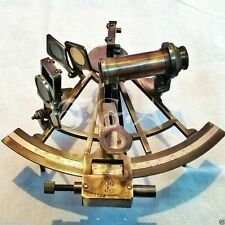 "Antique Heavy Brass Sextant 8"" Henery Barrow & CO. London MariNE"