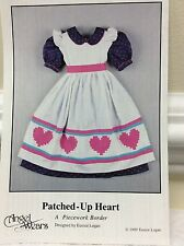 ANGEL WEARS PIECEWORK BORDER-PATCHED-UP HEART