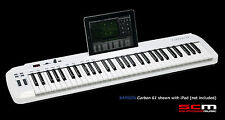 SAMSON CARBON 61 SEMI-WEIGHTED KEY USB MIDI CONTROLLER KEYBOARD TOUCH SENSITIVE