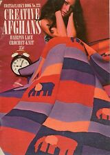 Coats Clark 223 Creative Afghans Crochet Knit Hairpin Lace Patterns Flower 1971