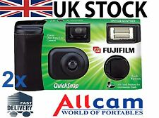 2 Pack: Fuji Quicksnap Single use flash camera X-tra ASA400 27exp film camera