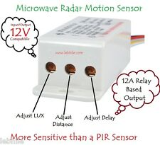 E54B DC 12V Adjustable Microwave Radar Motion Sensor Detector Solid State Switch