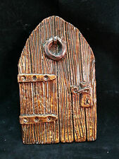 Large fairy door, 15cm , brown glazed finish, fae, faeries, fairies, magic